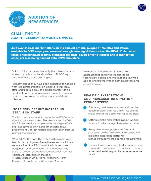DMV Improving Customer Service - Q-Flow
