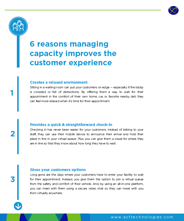 6 Reasons Managing Capacity Improves Customer Experience